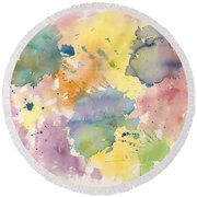 Young Souls Round Beach Towel