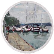 Youngstown Yachts Round Beach Towel