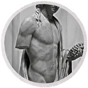 Youthful Dionysus Round Beach Towel