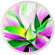 Yucca Abstract Round Beach Towel