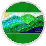 Round Beach Towel featuring the digital art Van Gogh Sunrise by The Art of Alice Terrill