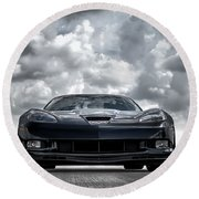 Z06 Round Beach Towel