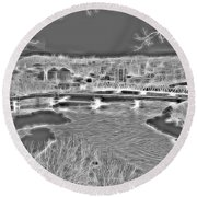 Zanesville Ohio Ybridge Round Beach Towel