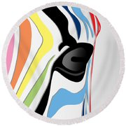 Zebra 1 Round Beach Towel