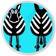 Zebra - Both Ends Round Beach Towel
