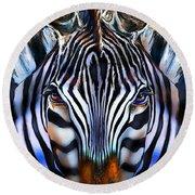 Zebra Dreams Round Beach Towel