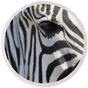 Zebra Eye Abstract Round Beach Towel