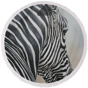 Zebra Look Round Beach Towel