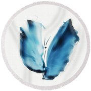 Zen Butterfly Round Beach Towel by Frank Bright