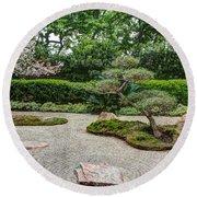 Zen Rock Garden Round Beach Towel