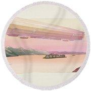 Zeppelin, Published Paris, 1914 Round Beach Towel