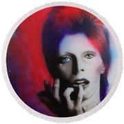 Ziggy Stardust Round Beach Towel