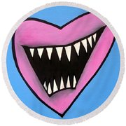 Zombie Heart Round Beach Towel