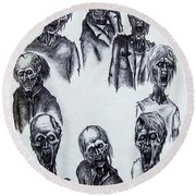 Zombies Round Beach Towel