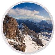 Zugspitze Summit Round Beach Towel