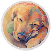 Zzzzzz Round Beach Towel