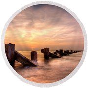 Abermaw Sunset Round Beach Towel