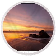 Atomic Sunset Round Beach Towel