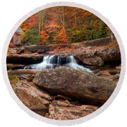 Autumn Leaves At The Mill Round Beach Towel
