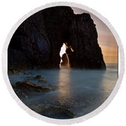 Gateway To The Sun Round Beach Towel by Beverly Cash