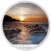 Golden Days Round Beach Towel