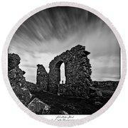 Llanddwyn Island Ruins Round Beach Towel