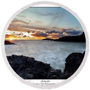 Llanddwyn Island Sunset Round Beach Towel