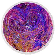 Love From The Ripple Of Thought  V 6  Round Beach Towel