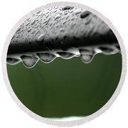 Round Beach Towel featuring the photograph  Rain Drops by Emanuel Tanjala