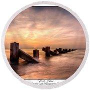 Rich Skies - Abermaw Round Beach Towel by Beverly Cash