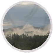 Round Beach Towel featuring the photograph 0526 Am  by Maciek Froncisz