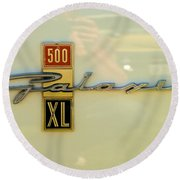 1963 Ford Galaxie Round Beach Towel