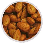 Almonds N H2o Round Beach Towel by Henri Irizarri