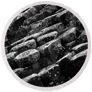 Another View Of The Giants Causeway Round Beach Towel