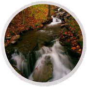 Autumn In New York Round Beach Towel