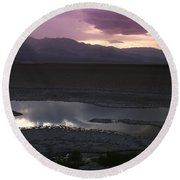 Badwater Basin Death Valley National Park Round Beach Towel