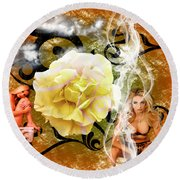 Round Beach Towel featuring the photograph Beauty by Clayton Bruster