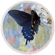 Butterfly Love Round Beach Towel by Betty LaRue