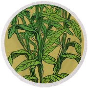 Centaurea Montana, Bachelors Button Round Beach Towel