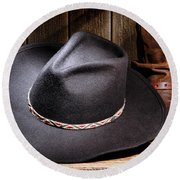 Cowboy Hat Round Beach Towel