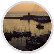 Dunmore East, Co Waterford, Ireland Round Beach Towel
