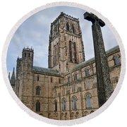Durham Cathedral Round Beach Towel