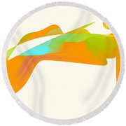 Falcon Pond Round Beach Towel by Kevin McLaughlin