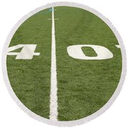 Football Field Forty Round Beach Towel