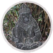 Round Beach Towel featuring the photograph Garden Goddess by Donna  Smith