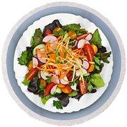 Garden Salad Round Beach Towel