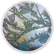 Glass Designs Round Beach Towel