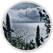 Round Beach Towel featuring the photograph Golden Gate Bridge - 1 by Mark Madere