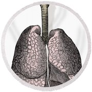 Human Lungs Round Beach Towel