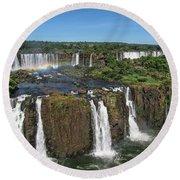 Iguazu Falls Round Beach Towel
